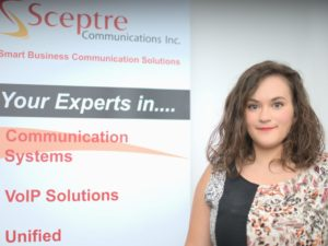 Sheena Allard Junior Client Account Representative Sceptre Communications